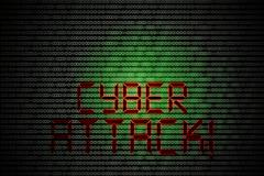 cyber attack - stock illustration