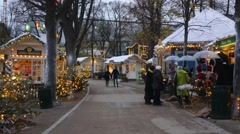 Christmas in tivoli copenhagen Stock Footage