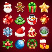Stock Illustration of Set of Christmas Icons