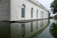 The exterior view of macau museum on the hill of the fortaleza do monte in ma Stock Photos