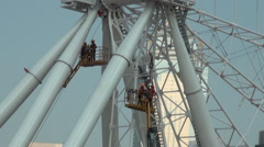 The new giant under construction Ferris Wheel Hong Kong, China.-Dan Stock Footage
