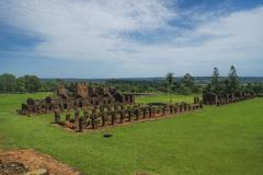 encarnacion and jesuit ruins in paraguay - stock photo