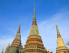 Stock Photo of authentic thai architecture in wat pho at bangkok of thailand.