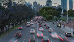 Argentina Buenos Aires time lapse of traffic at rush hour Stock Footage