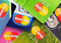 A lot of credit cards by MasterCard Kuvituskuvat