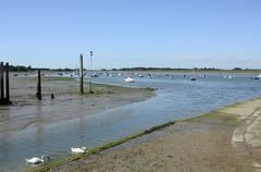 chichester harbour at bosham. sussex. england - stock photo