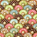 Stock Illustration of donuts seamless pattern