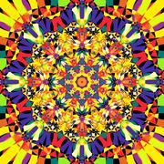Seamless kaleidoscope pattern Stock Illustration