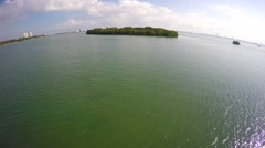 Secluded island aerial. 4k version also available - stock footage