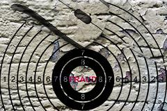 fraud target concept - stock illustration