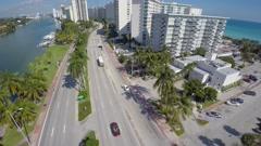 Aerial video Miami Beach Condos Stock Footage