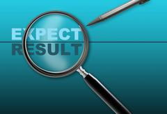 Expect - result Stock Illustration