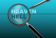 heaven - hell - stock illustration