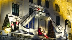 Hotel d'angleterre at christmas time in copenhagen, denmark Stock Footage