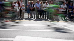 Cyclist during the final parade of 97th edition of the giro d'italia Stock Footage