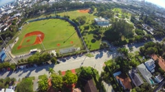 Aerial Baseball field. 4k version also available Stock Footage