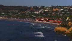 Panoramic View of People Enjoying La Jolla Shores Beach Stock Footage