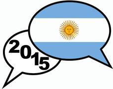 2015 bubble talk argentina - stock illustration