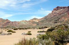 el teide national park at tenerife (spain) - stock photo