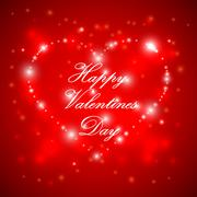 happy valentines day background - stock illustration