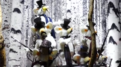 Dancing white mice in a shop window Stock Footage