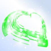 High-tech heart. vector illustration Stock Illustration