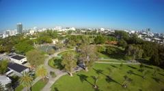 Flamingo Park Miami Beach aerial video Stock Footage