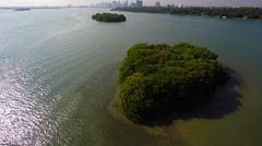 Secluded island orbit 2 aerial video Stock Footage