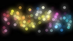 Beautiful Bokeh lights flicker loopable Stock Footage