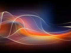 Dance of Fractal Waves - stock illustration