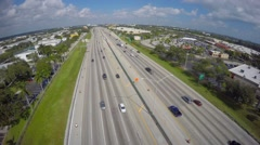 Interstate 95 aerial video footage 2 Stock Footage