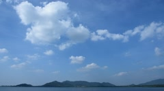 Time lapse of cloud movement at Bang Pra reservoir Stock Footage