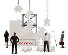 Build a new company Stock Photos