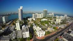 Miami Beach Alton Road aerial video Stock Footage