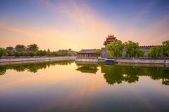 Forbidden city moat of beijing Stock Photos