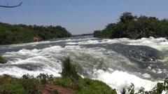 View of the White Nile River rapids - stock footage