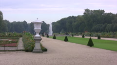 Charlottenburg palace grounds with pathway Stock Footage