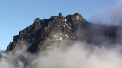 Rwenzori mountain view with passing clouds Stock Footage