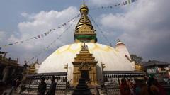 Swayambhunath Stupa aka Monkey Temple in Kathmandu, Nepal Stock Footage