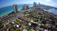 Golden Shores Sunny Isles aerial video footage Stock Footage