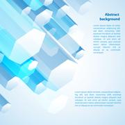 abstract 3d background - stock illustration
