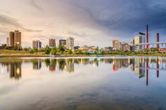 Birmingham, alabama city skyline Stock Photos