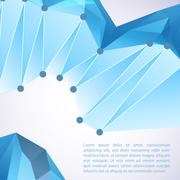 abstract 3d geometric background - stock illustration