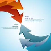 abstract arrows. detailed - stock illustration