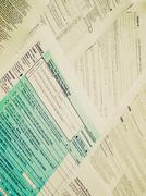 Retro look Tax forms - stock photo