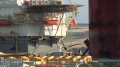 Oil Rig Section construction - stock footage