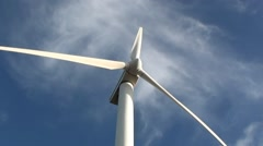 Rotating windturbine on a blustery day Stock Footage