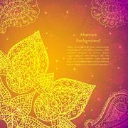 gold indian vintage ornament. vector illustration for your business presentat - stock illustration