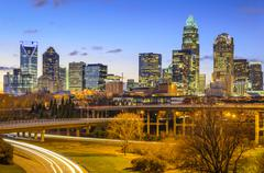Charlotte, north carolina city skyline Kuvituskuvat