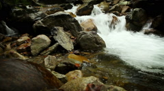Mountain river clean stream with slider moving Stock Footage